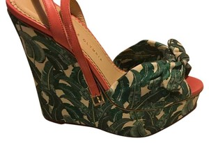 Charlotte Olympia Green/Multi Color Wedges