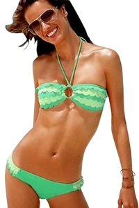 Victoria's Secret Brand New - Green Scallop Bandeau Top and Low-Rise Bottom