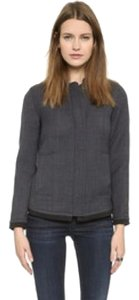 Alison Ayres Quilted Wool Bomber Military Jacket