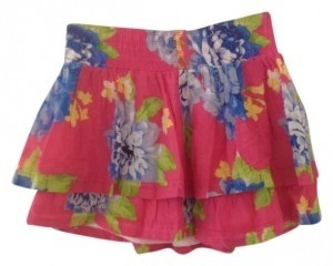 Abercrombie Kids Floral Pretty Teens Juniors Mini Skirt Pink & Green