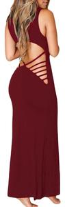 Burgundy/Black/Blue Maxi Dress by Wear Maxi