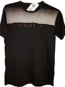 D&G T Shirt Black With Silver