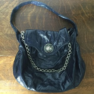 Marc by Marc Jacobs Turnlock Patent Leather Patent Chain Hobo Bag