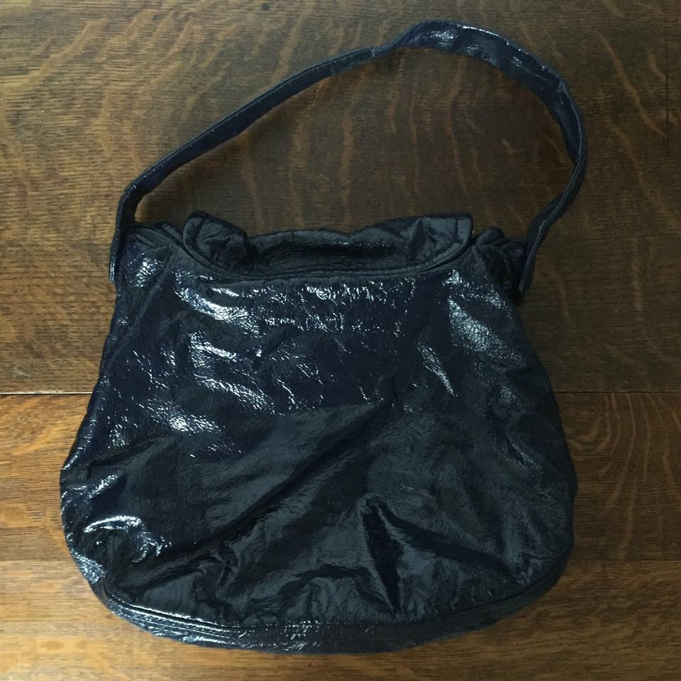 b2607bcf42a0 Marc by Marc Jacobs Posh Turnlock Blue Patent Leather Hobo Bag - Tradesy