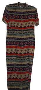 j. stevens Aztec Kimono Button Down Dress