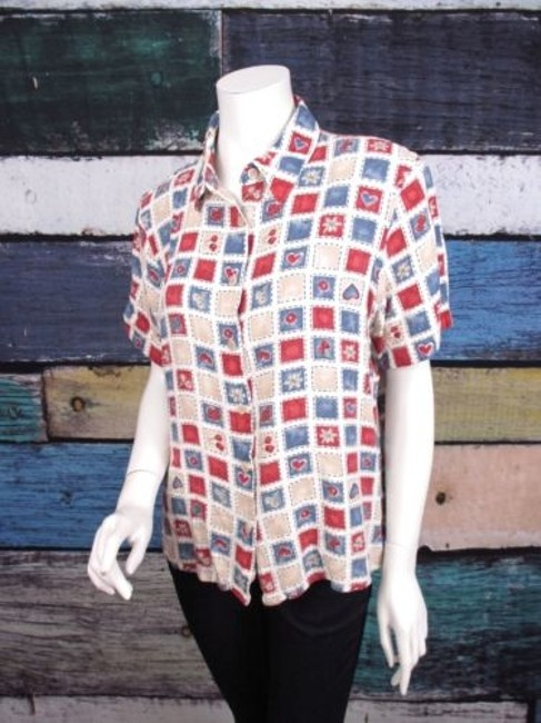 Preload https://img-static.tradesy.com/item/16336390/alfred-dunner-red-white-blue-4th-of-july-short-sleeve-top-blouse-shirt-0-0-650-650.jpg