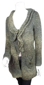 3 Sisters Anthropologie Ombre Ruffle Duster Cardigan Sweater