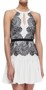 BCBGMAXAZRIA Lace Lace Trim Contrast Dress