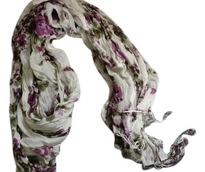 Wet Seal Wet Seal White Purple Floral Scarf