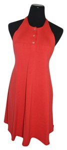 Louis Vuitton short dress red Wool on Tradesy