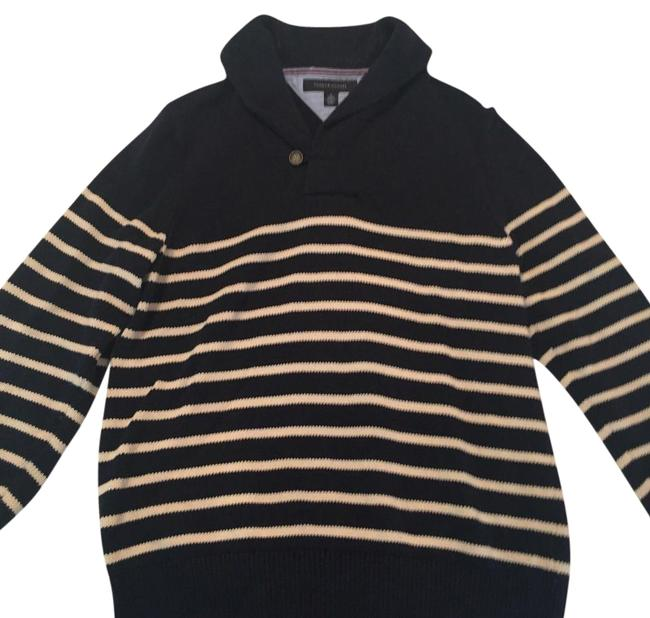 Preload https://img-static.tradesy.com/item/16337311/tommy-hilfiger-men-s-shawl-collar-and-white-striped-navy-blue-and-cream-sweater-0-1-650-650.jpg