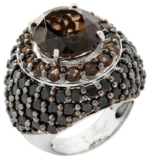 Preload https://img-static.tradesy.com/item/16337668/smoky-quartz-and-black-spinel-795ct-sterling-silver-dome-size-9-ring-0-1-540-540.jpg