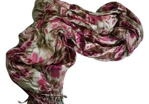 Wet Seal Wet Seal Floral Purple Red Scarf