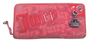 Juicy Couture Red velour zip around wallet