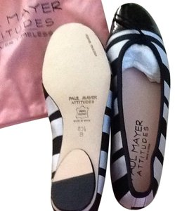 Paul Mayer Black And Grey Flats