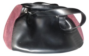 la rotonda Tote in black with burgundy