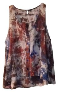 Sparkle & Fade Urban Outfitters Top Multi-Color Tie Dye