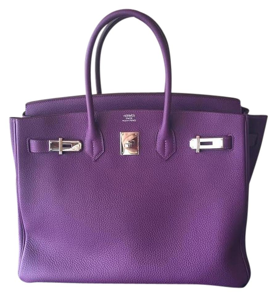 816012ac86e5 Hermès Birkin Anemone B35 Palladium Hardware Purple Togo Leather ...