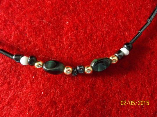Handmade Handmade Necklace of Bugle and Seed Beads in Black