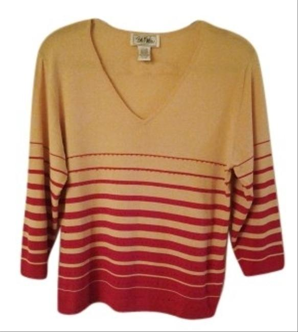 Preload https://item1.tradesy.com/images/bob-mackie-camel-and-red-light-as-air-v-neck-sweaterpullover-size-14-l-16340-0-0.jpg?width=400&height=650