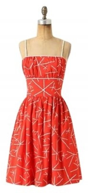 Preload https://item1.tradesy.com/images/anthropologie-tomato-red-nostalgic-asterisk-above-knee-short-casual-dress-size-6-s-163400-0-0.jpg?width=400&height=650