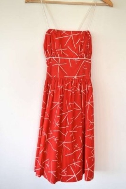 Anthropologie short dress Tomato Red on Tradesy