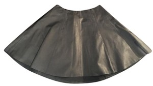 Theory Leather Lambskin Skirt Black
