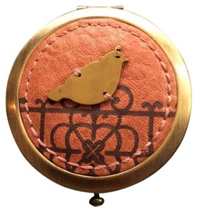 Fossil FOSSIL Brass & Leather Quail Mirror