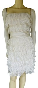 Nicole Miller Bridal Lace Tiered Dress