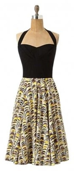 Preload https://item3.tradesy.com/images/anthropologie-black-white-yello-vintage-above-knee-cocktail-dress-size-4-s-163407-0-0.jpg?width=400&height=650