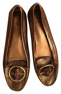 Coach Buckle Gold Flats