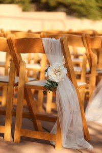 Michaels White Pink Green Chair Decor Ceremony Decoration