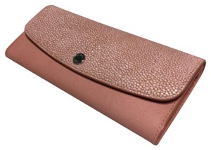 MICHAEL Michael Kors Michael Kors Juliana 3 in 1 Large Flap Wallet Pale Pink Embossed Leather