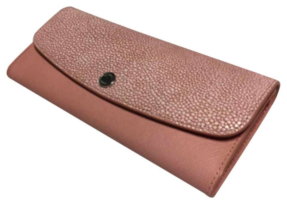 260f87c28895 MICHAEL Michael Kors Michael Kors Juliana 3 in 1 LG Flap Wallet Pale Pink  Embossed Leather ...