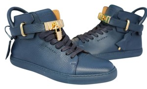 Buscemi Gold Gold Hardware Leather Blue Athletic