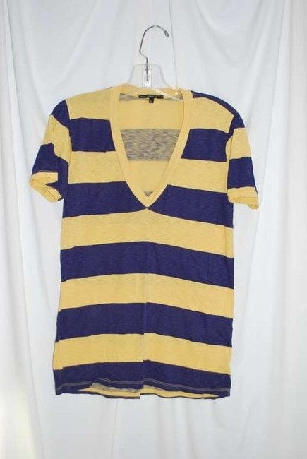 Truly Madly Deeply T Shirt Yellow and Purple