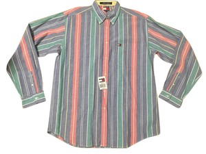 Tommy Hilfiger Stripe Men Button Shirt Junior Button Down Shirt