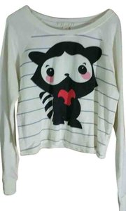 Forever 21 Raccoon Animal Cartoon Crewneck Sweater
