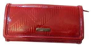 Burberry Burberry Patent Embossed Nova Check Leather Wallet