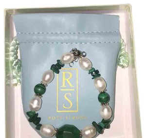 Ross-Simons Ross Simons STERLING SILVER 925 with genuine pearl & malachite stones NIB
