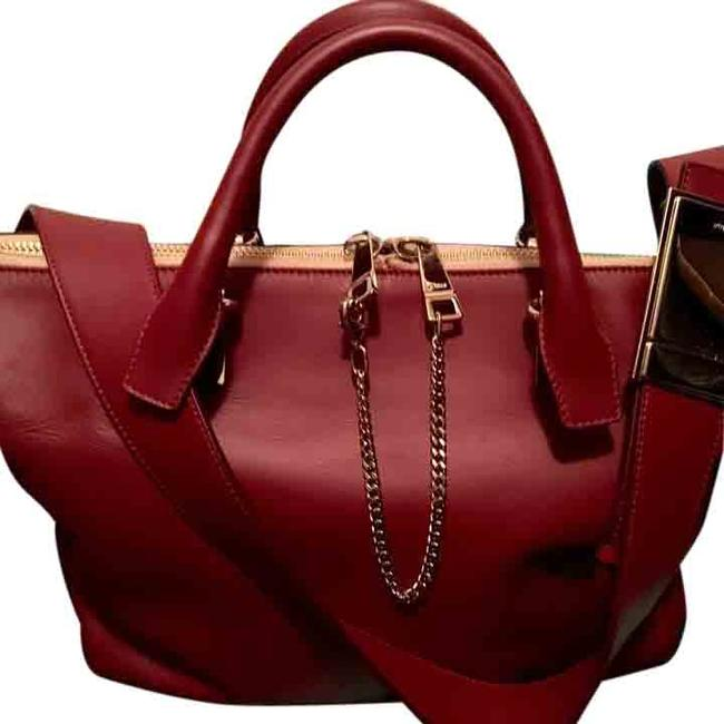 Crimson/Fig Leather Satchel Crimson/Fig Leather Satchel Image 1