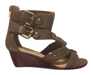 City Classified Wedge Strappy Olive Sandals