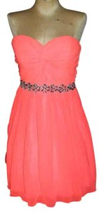 Jodi Kristopher Neon Sweetheart Strapless Party Bright Dress