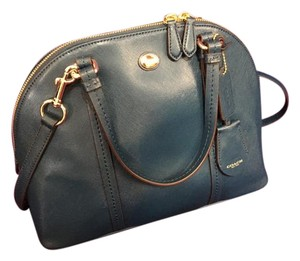 Coach Leather Fall New Green Satchel in Peacock Green