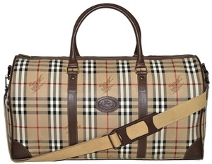0a829b8e32ff Burberry Carry On Luggage Suitcase Keepall Beige Travel Bag