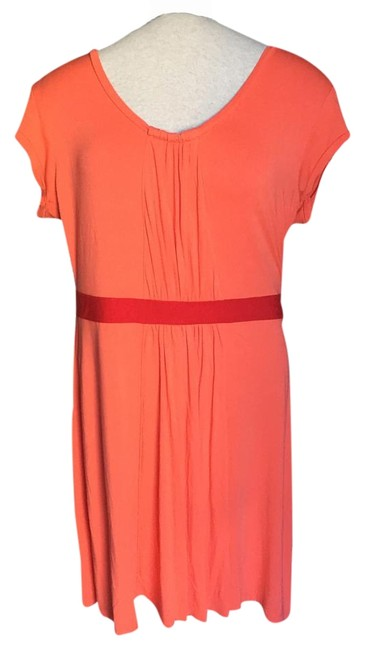 Preload https://img-static.tradesy.com/item/16343989/brooklyn-industries-orange-jersey-cap-sleeve-knee-length-short-casual-dress-size-10-m-0-1-650-650.jpg