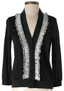 3.1 Phillip Lim Genuine Feather Trim Cardigan