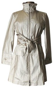 Emporio Armani Full-length Pinstripe Belted Trench Coat
