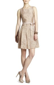 BCBGMAXAZRIA Tan Delphine Dress
