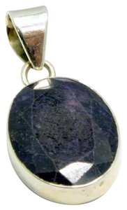 Other New .925 Silver Black Sapphire Turkish Pendant